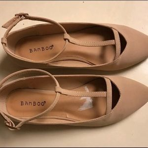 BAMBOO T-Strap Flats